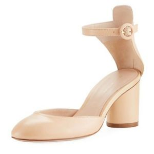 STEWART WEITZMAN Kara leather ankle strap pump